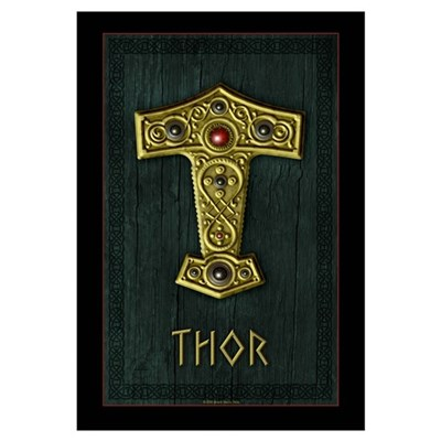 Thor's Hammer X UP Gold THOR Canvas Art